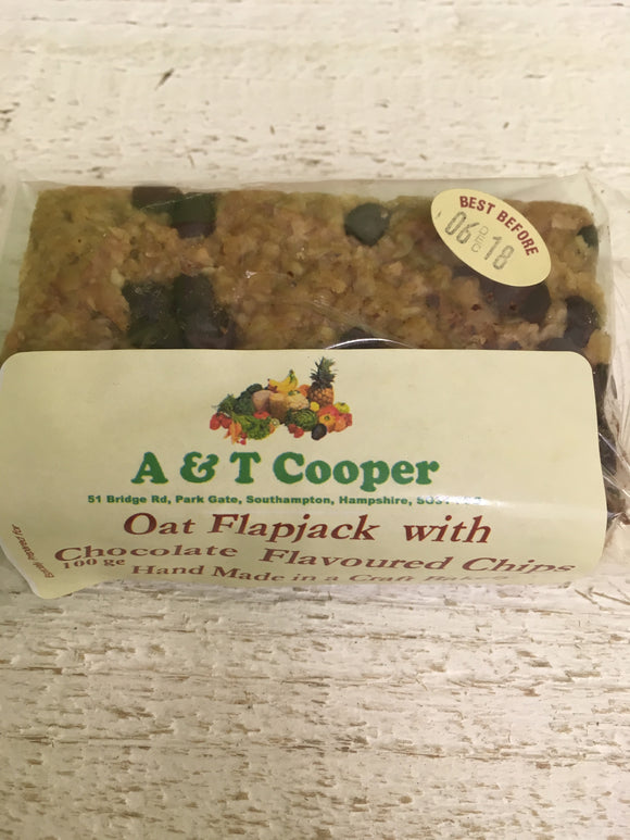 Flapjack - Oat with Chocolate Flavoured Chip