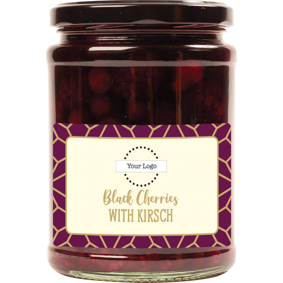 Personalised, A & T COOPER - Black Cherries With Kirsch x 550g.