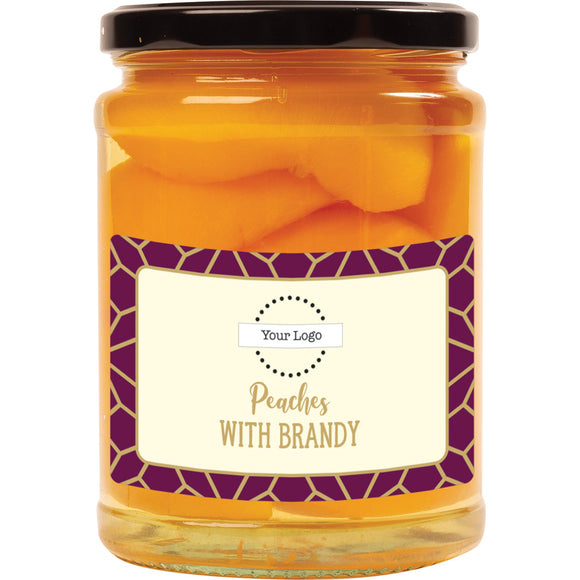 Personalised, A & T COOPER - Peaches With Brandy x  570g.