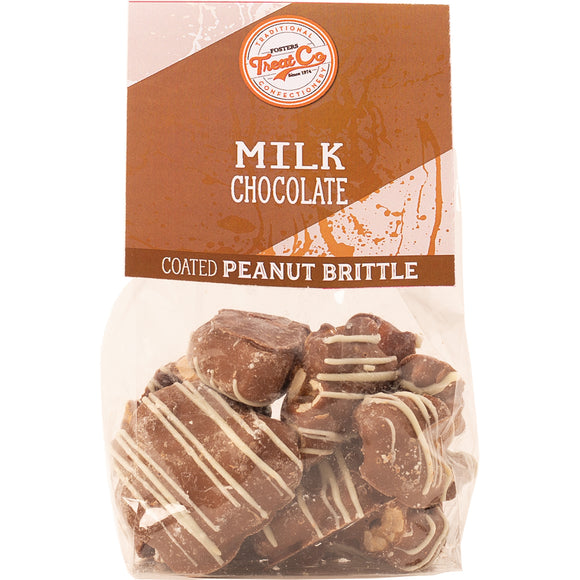 Treat Co - Milk Chocolate Coated Peanut Brittle x 100g.