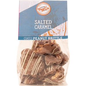 Treat Co - Salted Caramel Chocolate Coated Peanut Brittle x 100g.