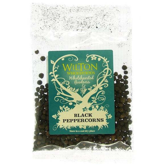 Spices, Condiments - Black Peppercorns, Whole x 30g.