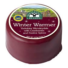 Cheese - Wensleydale with Cranberries & Festive Spices, Waxed x 200gm