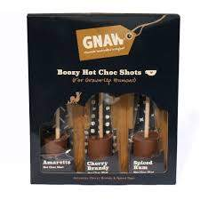 Chocolate - Gnaw, Chocolate Liqueur Flavoured Hot Shot Gift Set x 150g.