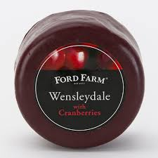 CHEESE - Ford Farm Wensleydale & Cranberry waxed - 200gm
