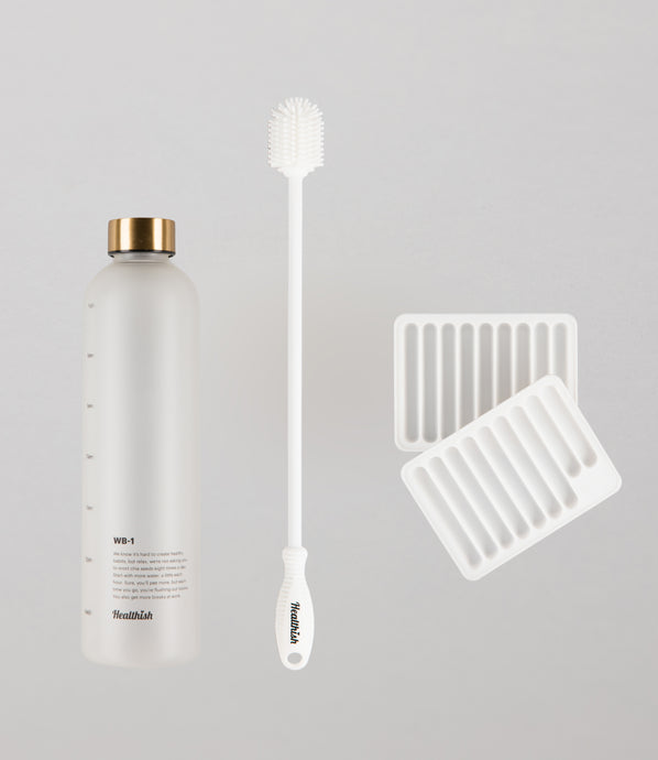 Ultimate Healthish Bundle - Bottle + Brush + Tray - Save $10!
