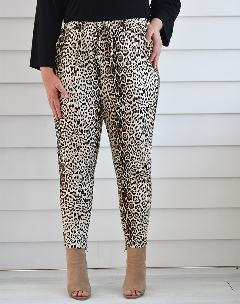 Indigo Babe - Slouch Pants in Jungle Leopard