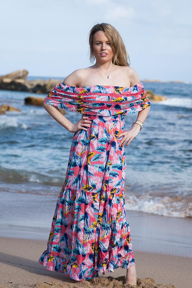 Indigo Babe - Yolanda Tropical Maxi Dress