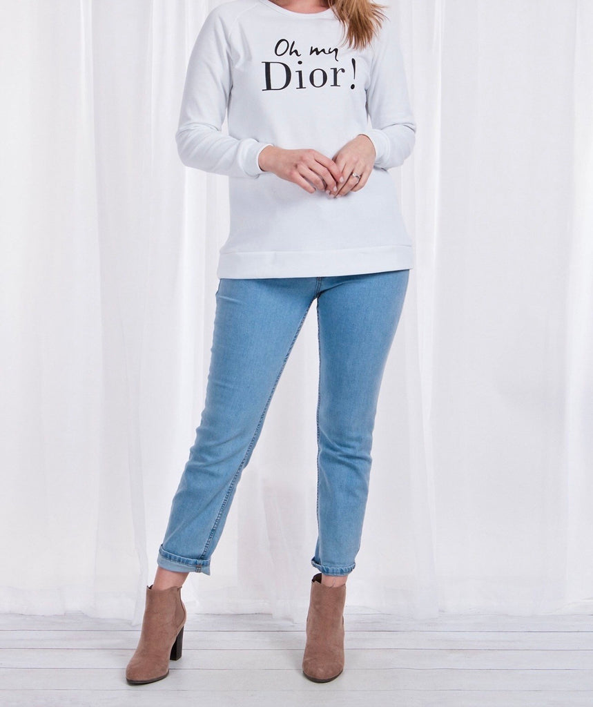 Indigo Babe - Oh My Dior Long Sleeve Top - White