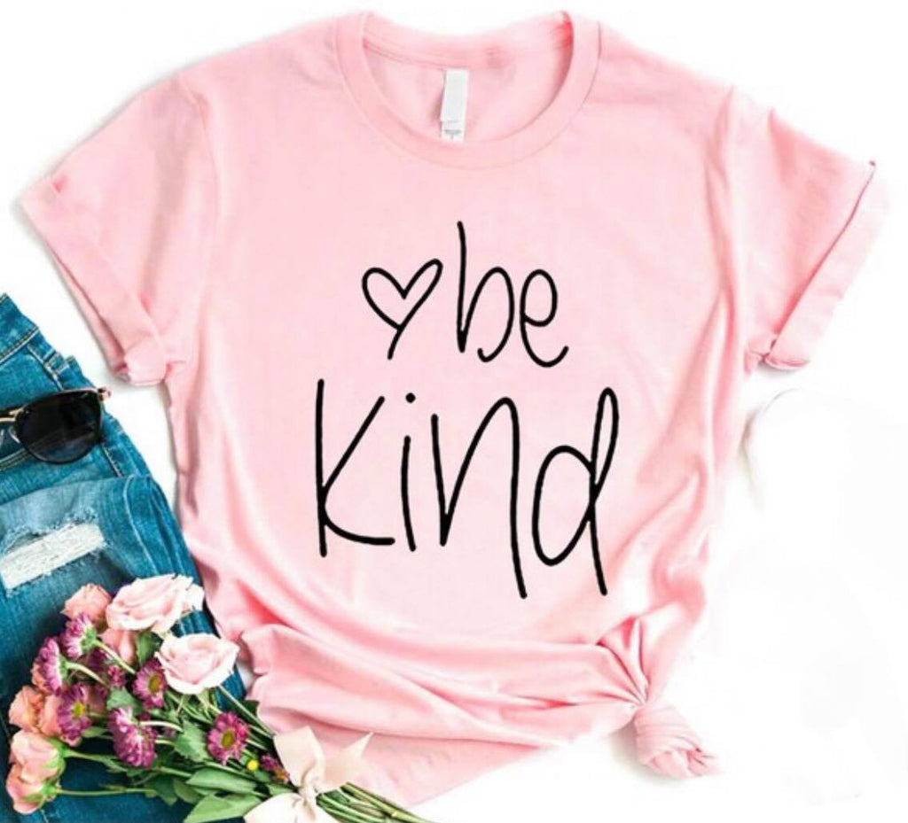 Indigo Babe - Just Be Kind T Shirt - Pink
