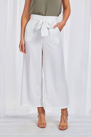 Indigo Babe - Palm Springs Wide Leg Pants in White