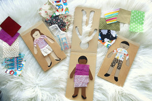 Wooden Dress-up Dolls