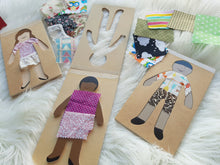 Load image into Gallery viewer, Wooden Dress-up Dolls