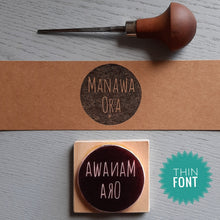 Load image into Gallery viewer, Name in Circle- Handcarved Stamp