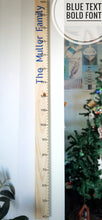Load image into Gallery viewer, Personalised Wooden Height Chart (with name)