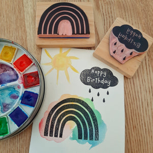 Birthday Rainbow & Cloud - 2 stamp set