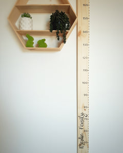 Personalised Wooden Height Chart (with name)