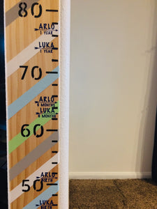 Height Chart Name/ Age Markers