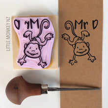 Load image into Gallery viewer, Kids Name and Picture - Handcarved Stamp