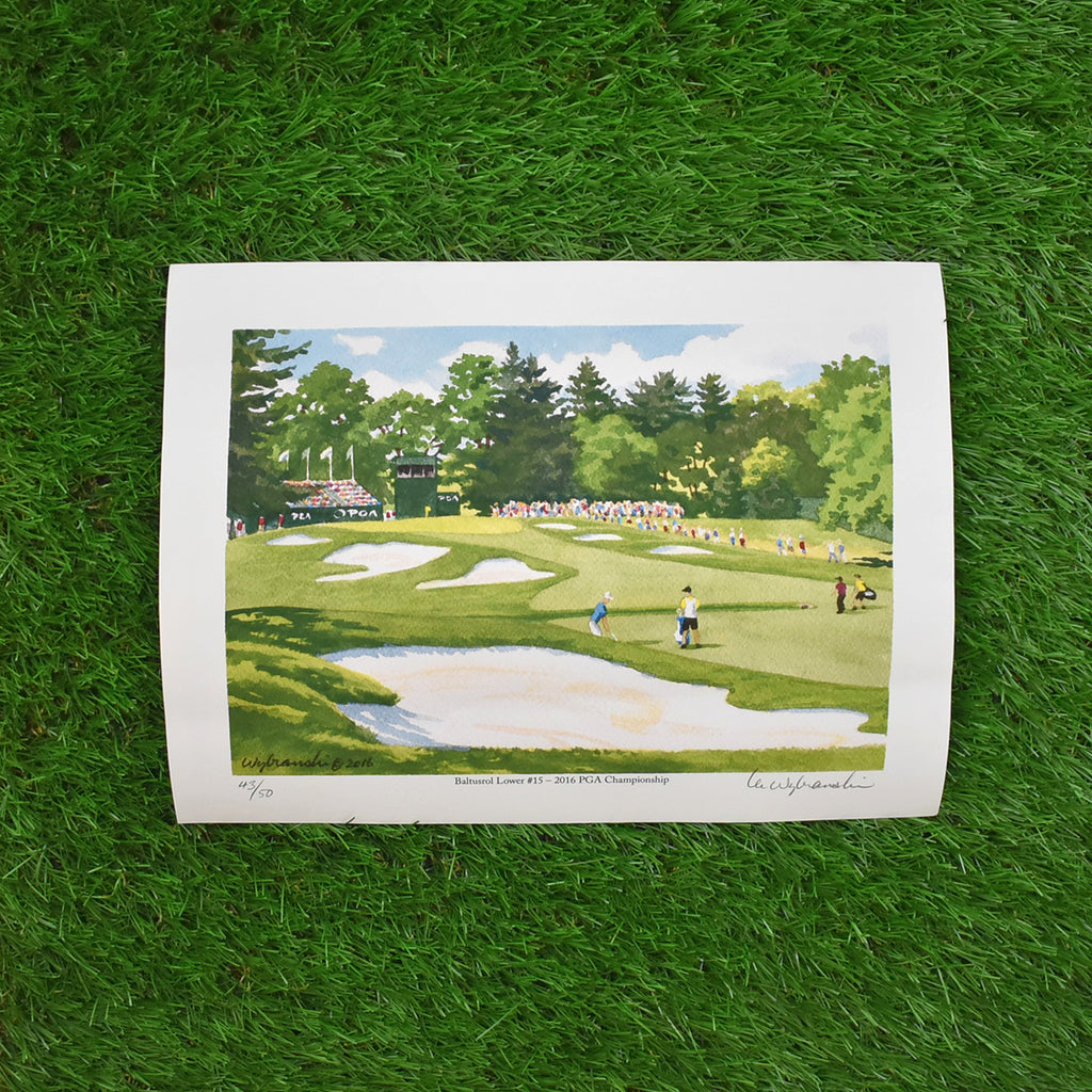 15th Hole Print by Lee Wybranski
