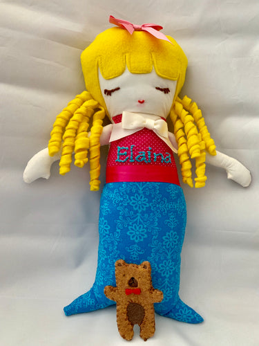 Handmade Mermaid Dolls- Personalized