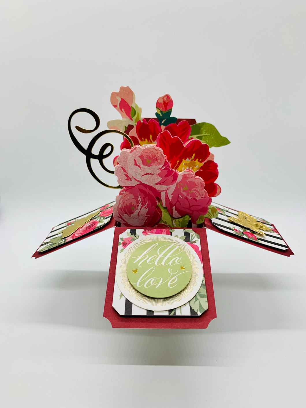 Hello Love 3D Flower Box Card