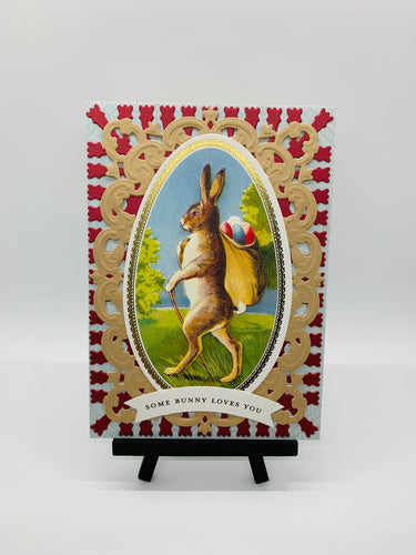 Easter Greeting Card- Some Bunny Loves You
