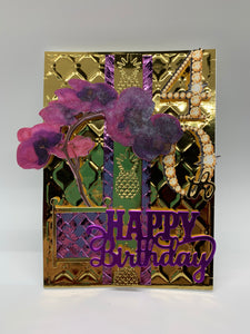 Orchid Birthday Card