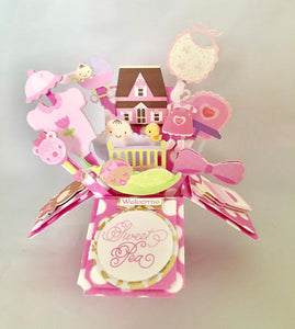 Welcome Baby 3D Pop Up Box Card