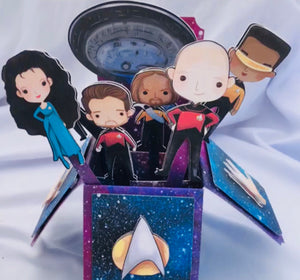 Final Frontier 3D Pop Up Box Card
