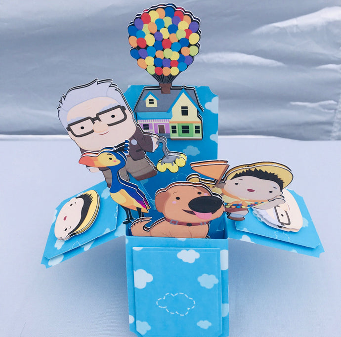 Up up and Away 3D Pop Up Box Card!