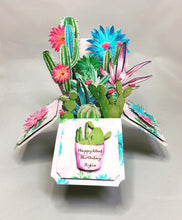 Load image into Gallery viewer, Succulent 3D Pop Up Box Cards