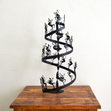 Chinhhari arts Wrought Iron  Tribal spiral Candle stand - Chinhhari Arts store
