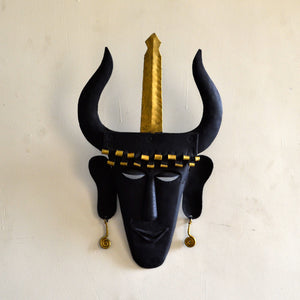Chinhhari arts Wrought Iron  tribal madiya mask - Chinhhari Arts store