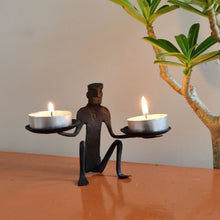 Chinhhari arts Wrought Iron Tribal Candle stand - Chinhhari Arts store