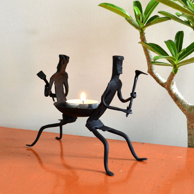 Chinhhari arts Wrought Iron  Tribal Candle stand