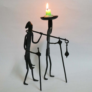 Chinhhari arts Wrought Iron  Madiya mudiya Candle stand