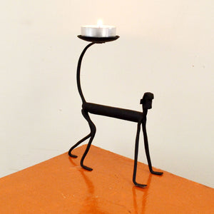 Chinhhari arts Wrought Iron monkey Candle stand - Chinhhari Arts store