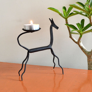 Chinhhari arts Wrought Iron Horse Candle stand