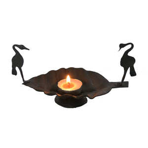 Chinhhari arts Wrought Iron swan candle stand - Chinhhari Arts store