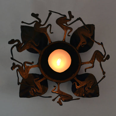 Chinhhari arts Wrought Iron tribal dance candle stand - Chinhhari Arts store