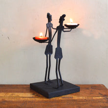 Chinhhari arts Wrought Iron tribal couple candle stand