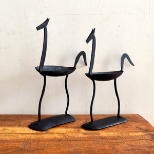 Chinhhari arts Wrought Iron Horse pair Candle stand - Chinhhari Arts store