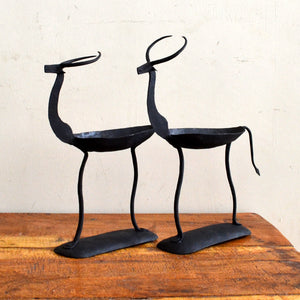 Chinhhari arts Wrought Iron deer pair candle stand - Chinhhari Arts store