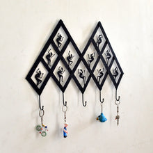 Chinhhari arts Wrought Iron  Abstract Tribal 5 Hook Keychain Holder - Chinhhari Arts store