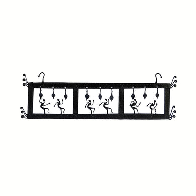 Chinhhari arts Wrought Iron 3 box jaali wall hanging
