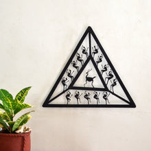 Chinhhari arts Wrought Iron triangle jaali wall hanging - Chinhhari Arts store