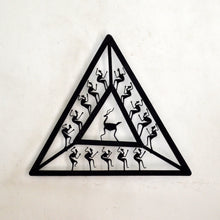Chinhhari arts Wrought Iron triangle jaali wall hanging