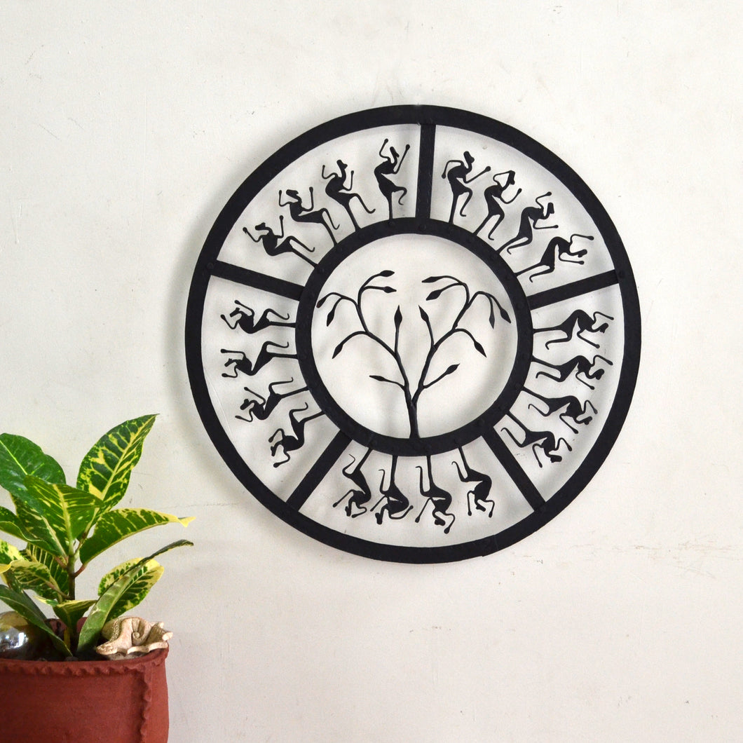 Chinhhari arts Wrought Iron circular jaali wall hanging - Chinhhari Arts store