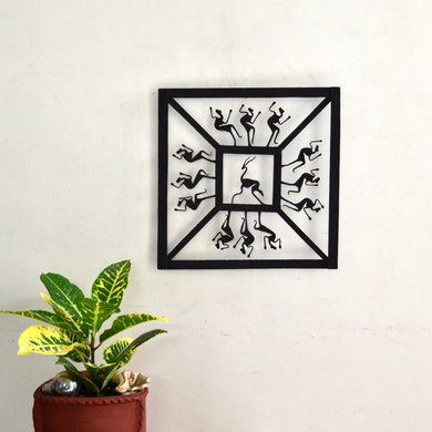 Chinhhari arts Wrought Iron square jaali wall hanging - Chinhhari Arts store